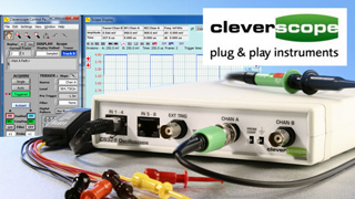Cleverscope - Box-Oszilloskope & Analyser via USB/Ethernet